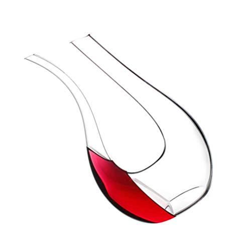 Amosfun Decanter per Vino Caraffa Decanter E Caraffe-Cristallo a Forma di U Unico Caraffa per Vino Senza Piombo Decanter per Vino Accessori per Vino Classica Bottiglia di Vetro