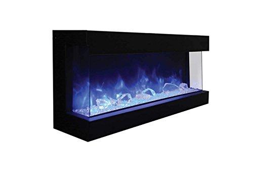 Amantii Tru-View Series XL Extra Tall Built-in 3-Sided Electric Fireplace (88-TRV-XT-XL-DESIGN-MEDIA-BIRCH-15PCE), 88-Inch, Birch Log Media