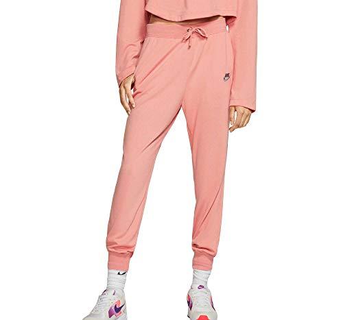 Nike Women's Sportswear Jersey Pants (Pink Quartz, X-Large)