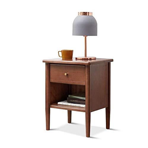 Tavolo da letto, Tavoli da comodino con cassetti, piccoli armadietti, con spazio di archiviazione, armadio da camera da letto, cabina armadio per la noce Colore caffè colore: noce, dimensione: 15.7412