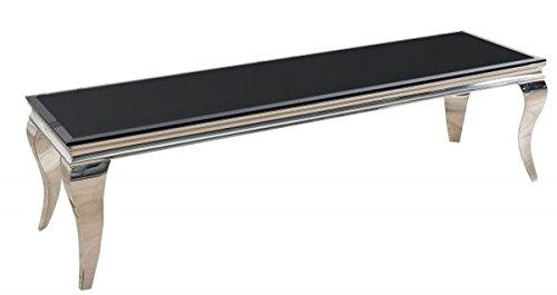 Casa Padrino Designer TV Board Schwarz/Silber 160 cm x 45 cm x H. 45 cm - Modern Barock