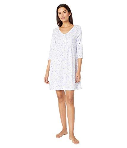 Carole Hochman Soft Jersey 3/4 Sleeve Sleepshirt Lilac Floral MD