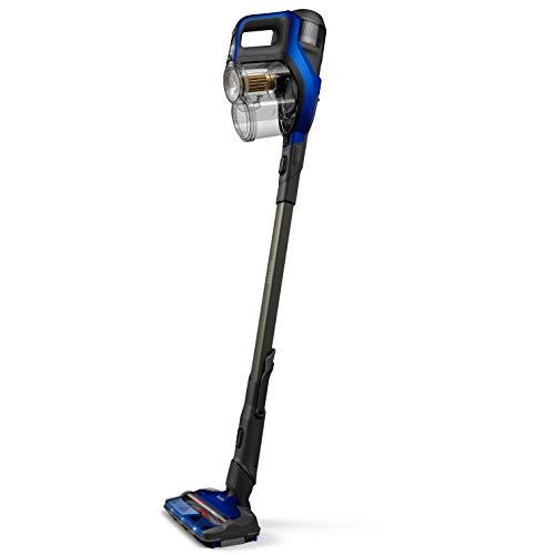 Philips Serie 8000 Escoba Aspiradora Vertical de Mano Sin Cable, 60 Autonomía y 28 Min en Modo, Succión 360 º, Luz Led, Cepillo Mini Turbo y Boquilla Largo Alcance Incluida, plástico, Azul
