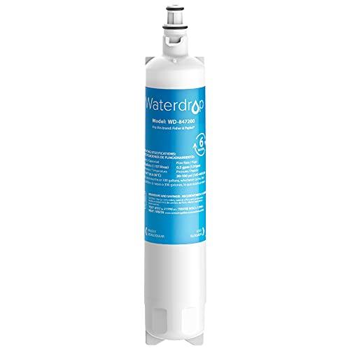 Waterdrop 847200 Filtro de Agua para Nevera, Compatible con Fisher & Paykel 847200; RS9120W Activesmart Integrated y Más: para Códigos de Producto Que Comienzan con 25xxx (1)