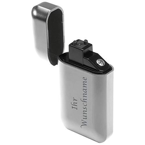 Elektronisches Feuerzeug mit Gravur / USB Feuerzeug / Farbe: silber