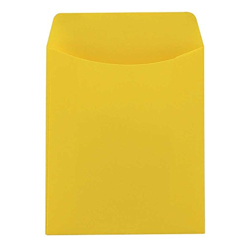 """Mighty Bright Library Pockets Daisy Yellow 3.5""""x5"""" by Hygloss"""
