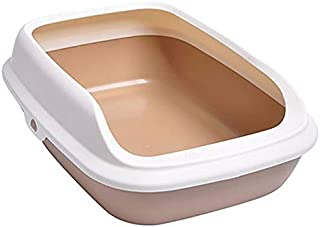 MUMUCW Pet Fusion Large Cat Litter Tray - Non-Stick Coating for Easy Cleaning Litter Box Pan Cat Litter Litter Pan with Ex...