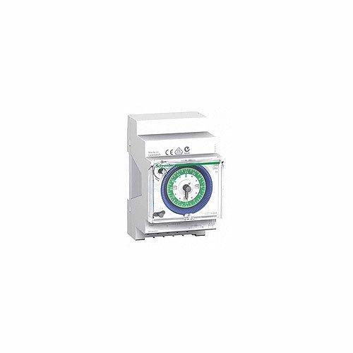 Schneider Electric CCT16364 Acti 9 IH Interruptor Horario Analógico, 24 H, Memoria 200H, 54mm x 90mm x 66mm, Blanco