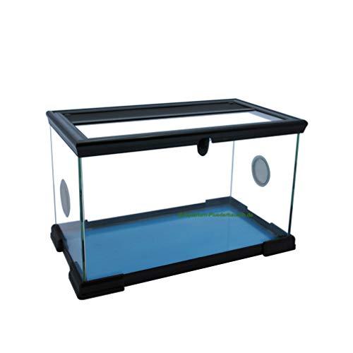 Aquarium-Plüderhausen Glas-Terrarium mit Schiebe Deckel 40x22x25 cm für kleine Reptilien, Amphibien, Insekten