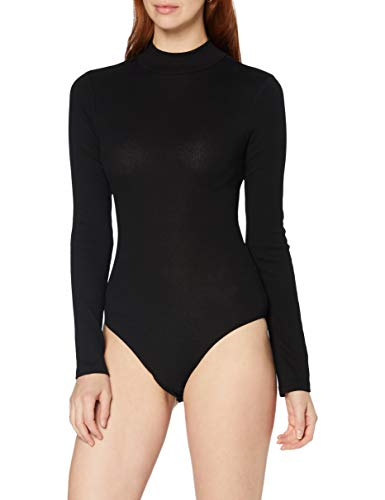Amazon-Marke: MERAKI Damen Body aus Baumwolle, Schwarz (Black), XXL, Label: XXL