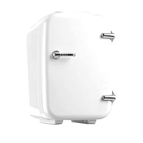 Refrigerador cosmético portátil, mini caja de enfriamiento portátil para el cuidado de la piel de 4 l, impecable, pequeño y ligero, bajo nivel de ruido, enfriamiento rápido hasta 0 grados, blanco