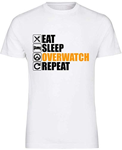 Eat Sleep Overwatch Repeat T-Shirt-Game Xbox Ps4 Gift Reaper