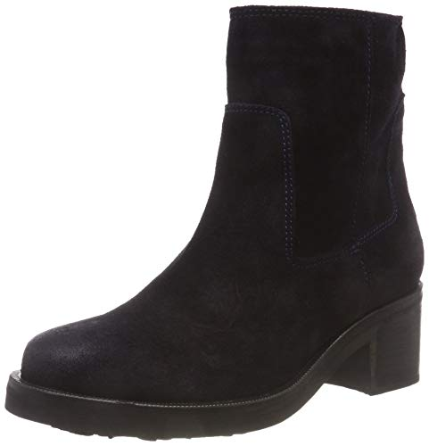 Hilfiger Denim Damen Essential Suede Biker Boots, Blau (Midnight 403), 38 EU