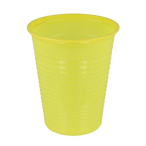 Mundspülbecher | Trinkbecher | Partybecher | Plastikbecher 180ml, 100er Packung (gelb)
