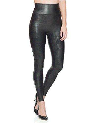 Spanx Faux Leather Leggings Pantaloni, Black, XS Donna
