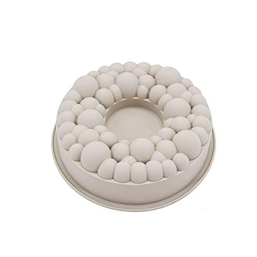 Molde de silicona para tartas, molde con forma de corona de burbujas de cereza, molde para mousse de chocolate, herramientas de decoración para hornear, accesorios para hornear, por defecto