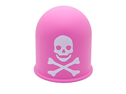 Schutzkappe Anhängerkupplung Deckel Schädel Trike Quad Skull Totenkopf rosa
