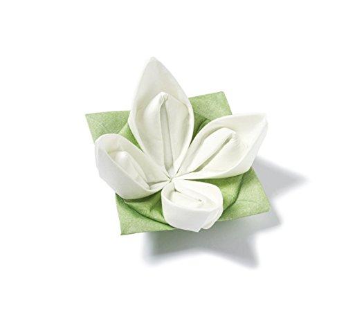 Origami Servietten - Seerose weiß-grün