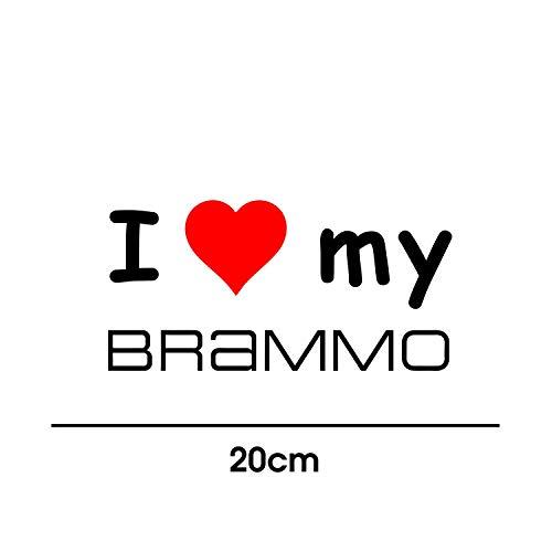 myrockshirt I Love My Brammo 20cm Aufkleber für Motorrad Bike Roller Mofa Sticker Decal Tuningaufkleber Tuning