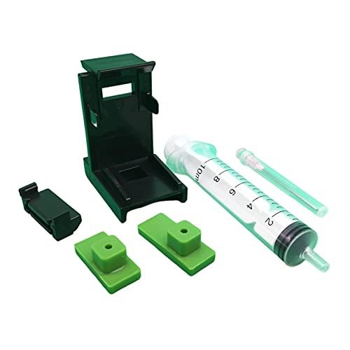 XIXI-Home Clip de absorción de Abrazadera de Cartucho de Tinta Bombeando la Herramienta de Recarga de Tinta con 1 0ML Kits de Agujas de la jeringa caben para Epson Canon HP