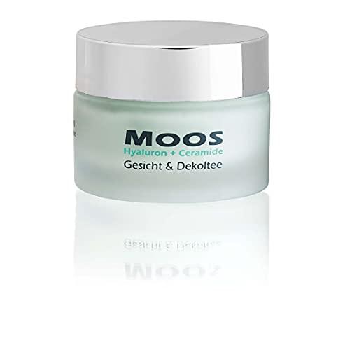 Moossalbe, Bio-Antiaging Gesichts & Dekolteepflege 50 ml, Mooscreme mit Islandmoos, Hyaluron und Ceramiden, Anti-Faltencreme, bei trockener Haut, auch für sehr empfindliche...
