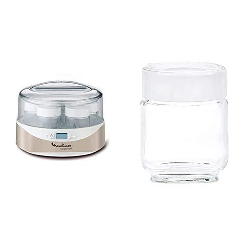 Moulinex YG231E Yogurteo Yogurtiera con 7 Vasetti in Vetro da 160 ml & A14A03 accessorio per yogurtiera