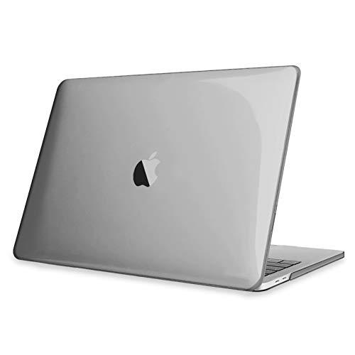 """Fintie Hülle für 2020 - 2016 MacBook Pro 13 A2338 M1 A2289 A2251 A2159 A1989 A1706 A1708 - Ultradünne Glatt Hartschale Schutzhülle für MacBook PRO 13"""" mit Touch Bar und Touch ID, Grau(Klar)"""