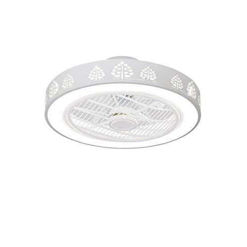 ASPZQ Ventilador de Techo con Iluminación LED, Regulable con Control Remoto, Lámpara Ventilador Techo Silenciosa Invisible Araña Moderna del Dormitorio 72W (Color : F, Size : 110-120V)