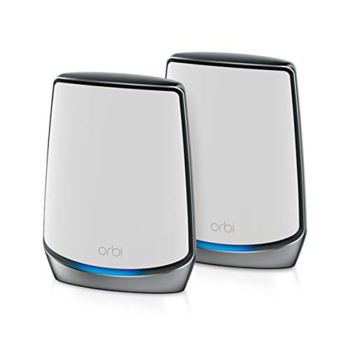 NETGEAR Orbi Whole Home Tri-band Mesh WiFi 6 System (RBK852) – Router with 1 Satellite Extender | Coverage up to 5,000 sq. ft., 100 Devices | AX6000 (Up to 6Gbps)