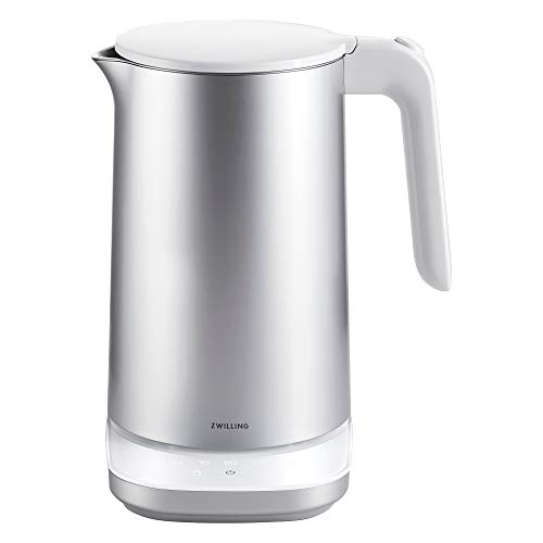 ZWILLING Enfinigy 1.56-qt Cool Touch Stainless Steel Electric Kettle Pro, Tea Kettle, Silver