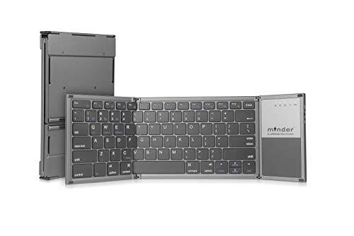 minder Foldable Portable Ergonomic Keyboard Black