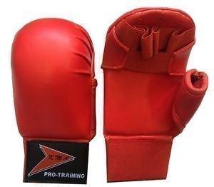 Vader Sports Kinder Karate-Handschuhe, Karate-Handschuhe, klein, Rot
