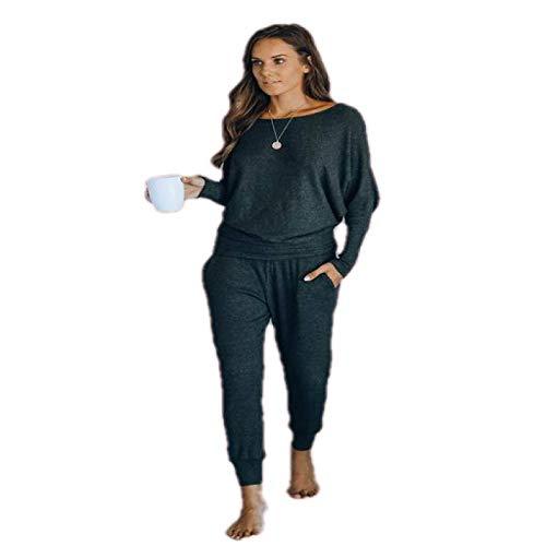 Conjunto de Pijamas QWEEK para Mujer, Ropa de algodón, Traje para el hogar, Pantalones, Ropa de Dormir, Ropa de casa Informal de Manga Larga, camisón Femenino 2020