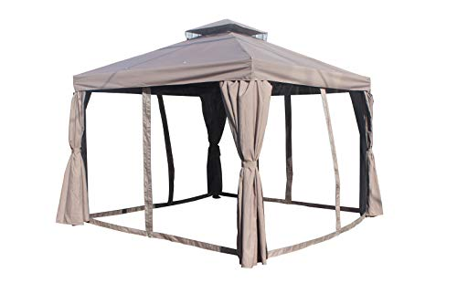 Yiyai 3 m x 6 m Gazebo Marquee con Paneles Laterales Impermeable y ...