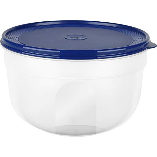 Emsa Boîte Fraîcheur, Couvercle Extra Souple, Rond/Haute, 4 Litres, Transparent/Bleu, Superline, 517050