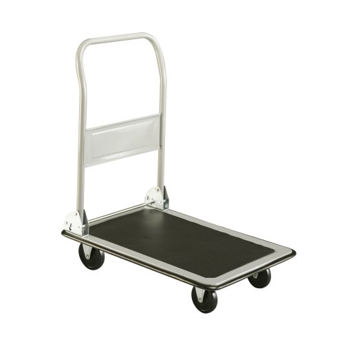 Safco Products Tuff Truck Large Platform Utility Hand Truck, Gray