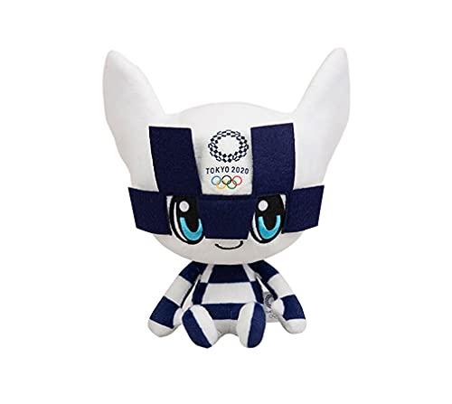 Yx-outdoor Muñeca de los Juegos Olímpicos 2020, Juguete de Felpa de la Mascota Azul de Tokio, diseño de Estilo científico y tecnológico Mano de Obra Exquisita, 25 cm