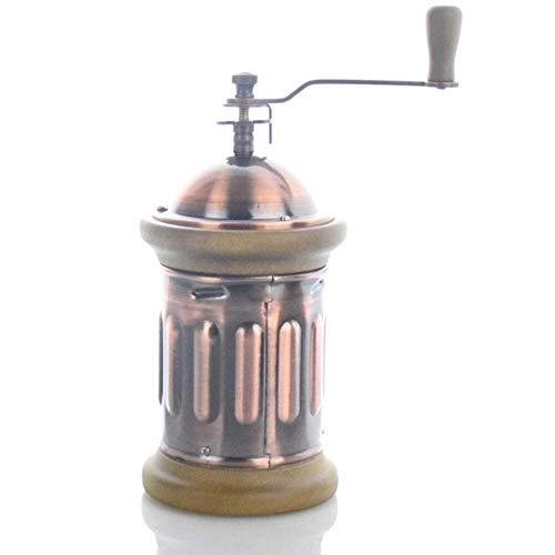 Qingsb Handkoffiemolen Conische maalmolen met geborstelde roestvrijstalen koffiemolen, koper
