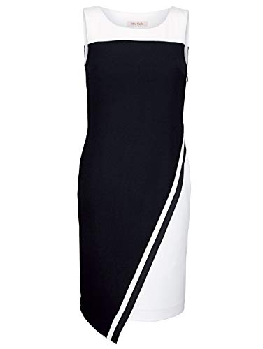 Alba Moda Damen Figurbetontes Knielang Kleid Ärmellos in Schwarz