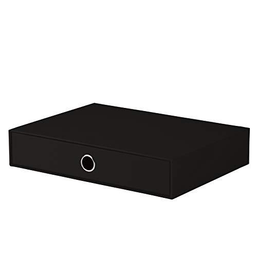Rössler 1524452700 - S.O.H.O. Schubladenbox für DIN A4, mit Griffloch, schwarz