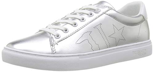 Trussardi Jeans Damen Sneaker Laminated Gymnastikschuhe, Silber (Silver M020), 39 EU