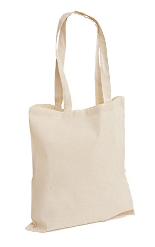 Pack of 10 Premium Plain Natural Cotton Shopping Tote Bags Eco Friendly...