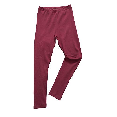 HERMKO 2720 Kinder Legging Unisex aus 100% Bio-Baumwolle für Mädchen und Knaben, Farbe:Bordeaux, Größe:152