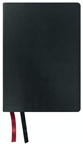 NASB Large Print Ultrathin Reference Bible, Black, Genuine Leather, 2020 text