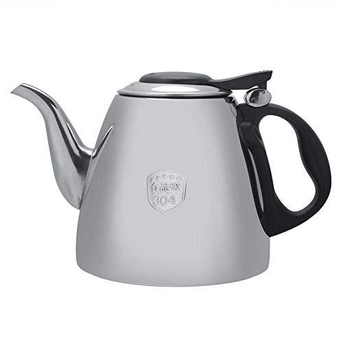 Hervidor de té de Acero Inoxidable, Tetera de 1,2 litros, hervidor de Agua Caliente, Mango ergonómico de BPA Aislado, Compatible con Todos los Tipos de Estufas, para el hogar o Camping, para el hogar