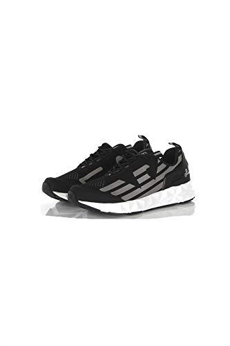 Sneaker running Emporio Armani 7 training mesh rubber nero/silver Unisex US20EA06