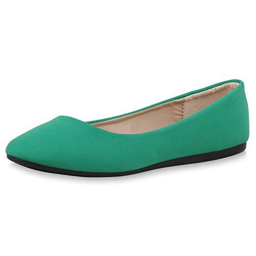 SCARPE VITA Dames Klassieke Ballerina Lederlook Schoenen Flats Basic Pantoffel Vrijetijdsschoenen Slip Ons