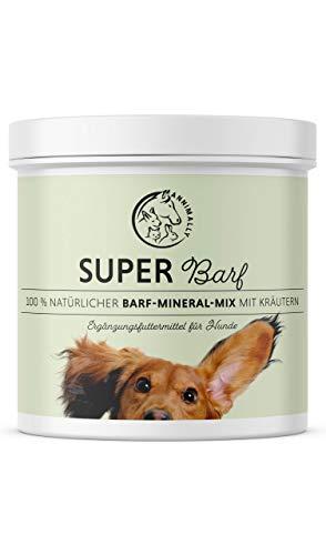 Annimally Barf Zusatz Pulver für Hunde 500g I Barf Vitamine & Mineralien Mix für die optimale Versorgung mit Nährstoffen - Hund Mineral Futterzusatz mit Gemüse, Obst und Vitaminen