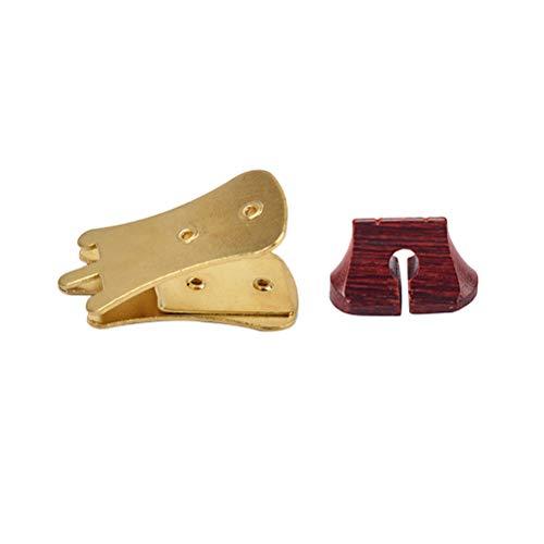 HEALLILY Erhu Mute Geige Dämpfer Schalldämpfer Professionelle Erhu Armaturen Erhu Sourdine Tools mit Brücke (Gold)