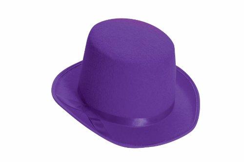 Forum Novelties Men's Deluxe Adult Novelty Top Hat, Purple, One Size